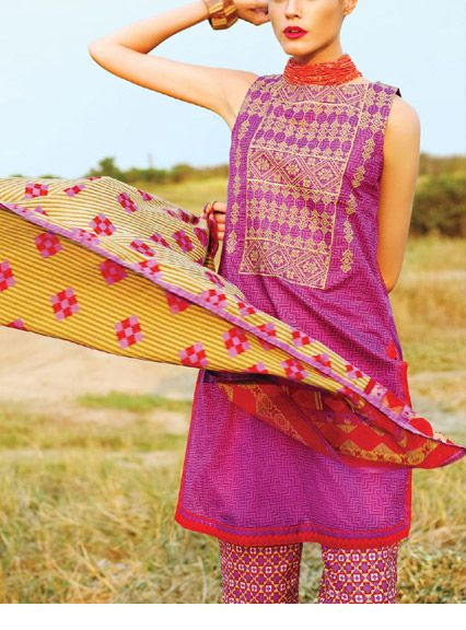 Latest Trends of Summer Lawn Kurtis Designs Collection for Women 2015-2016 (1)