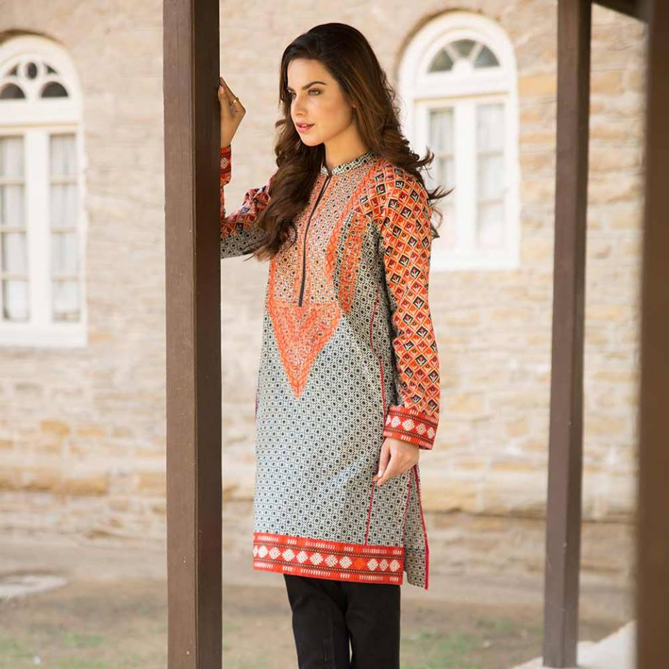 Latest Trends of Summer Lawn Kurtis Designs Collection for Women 2015-2016 (11)
