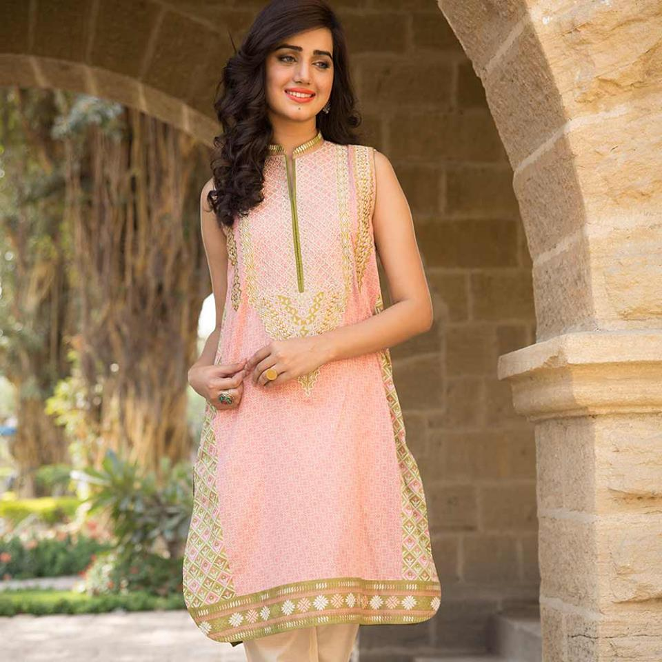 Latest Trends of Summer Lawn Kurtis Designs Collection for Women 2015-2016 (12)