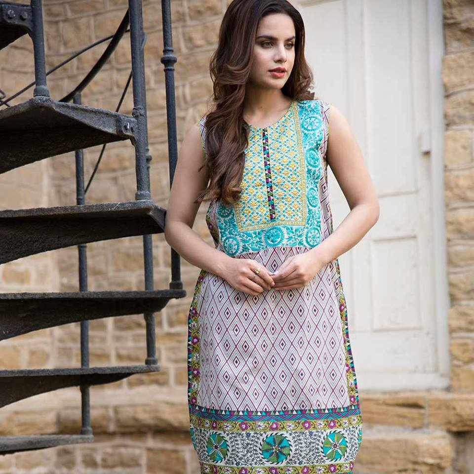 Latest Trends of Summer Lawn Kurtis Designs Collection for Women 2015-2016 (14)