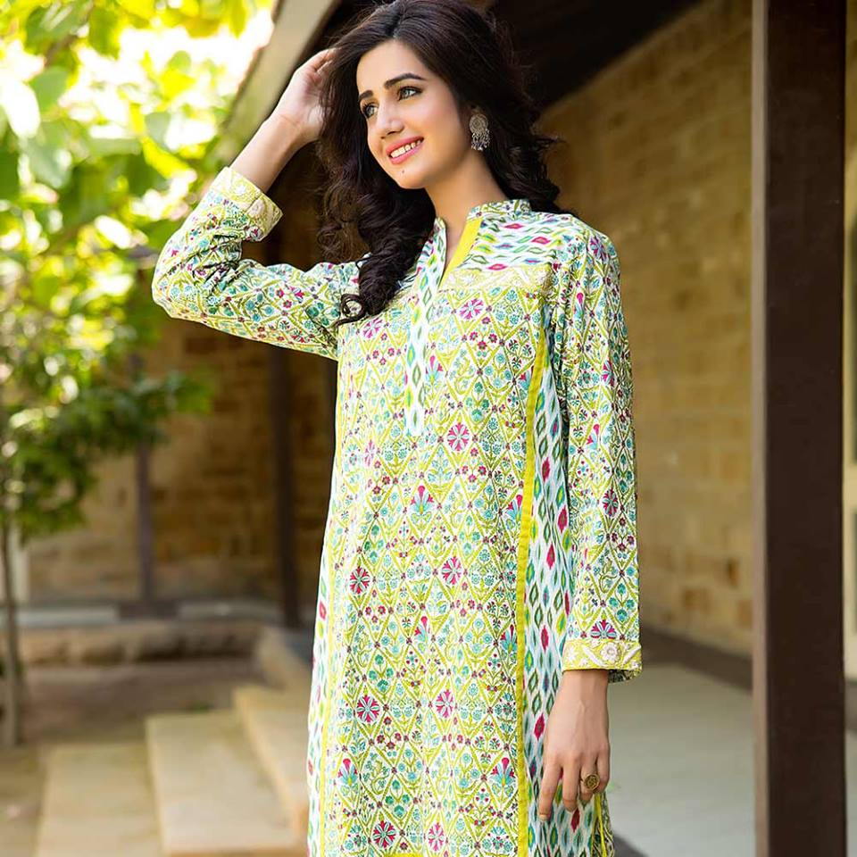 A New Decorating Trend For 2016: Summer Lawn Kurti Designs Collection 2016-2017
