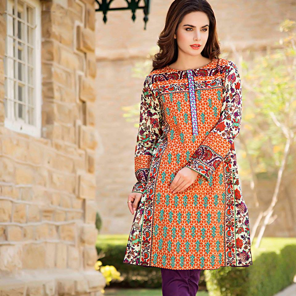Summer Lawn Kurti Designs Collection 2016-2017