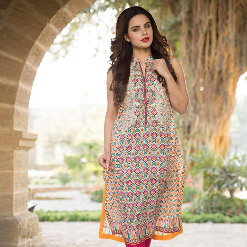 Latest Trends of Summer Lawn Kurtis Designs Collection for Women 2015-2016 (18)