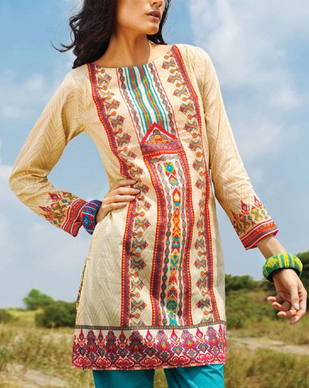 Latest Trends of Summer Lawn Kurtis Designs Collection for Women 2015-2016 (2)