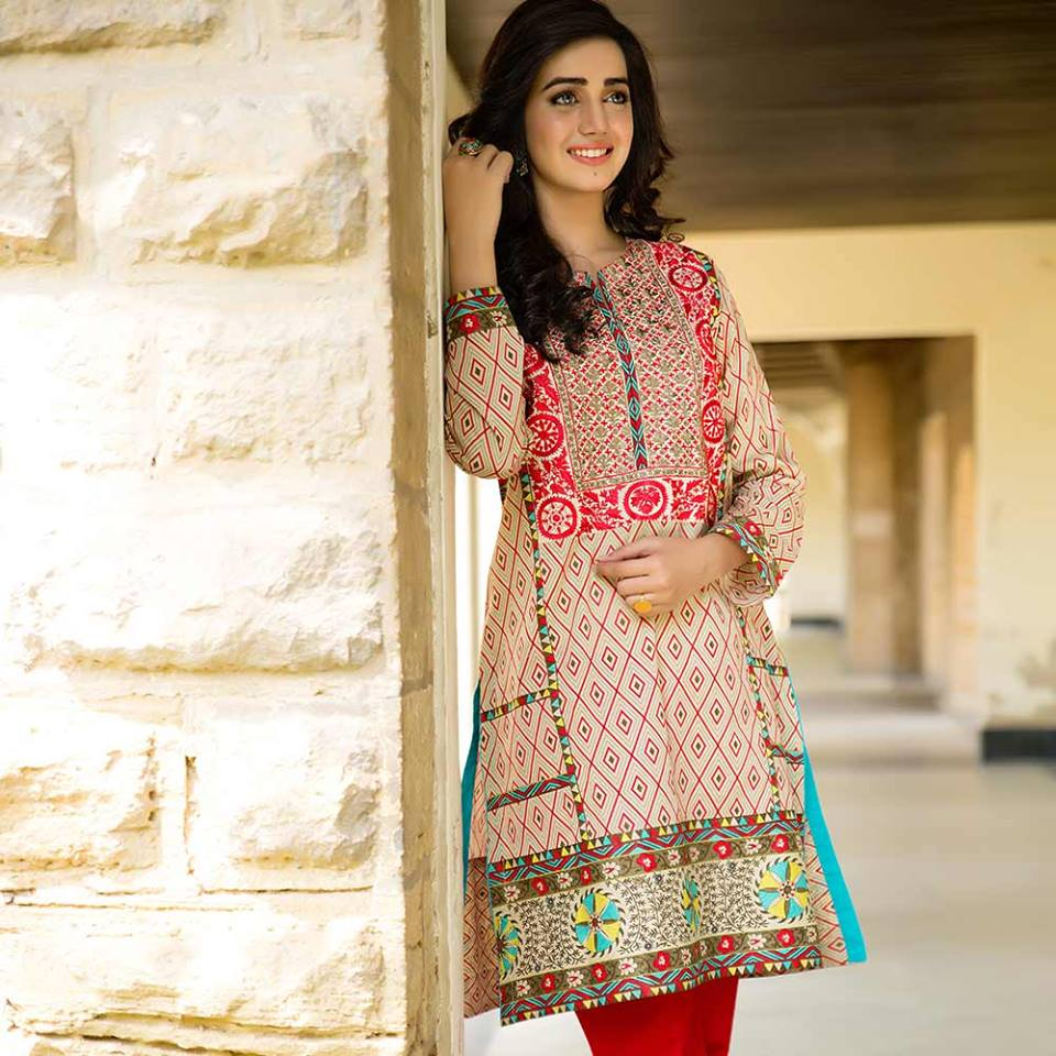 Latest Trends of Summer Lawn Kurtis Designs Collection for Women 2015-2016 (20)