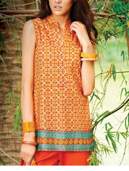 Latest Trends of Summer Lawn Kurtis Designs Collection for Women 2015-2016 (22)