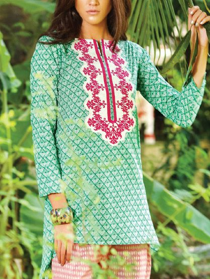 Latest Trends of Summer Lawn Kurtis Designs Collection for Women 2015-2016 (3)