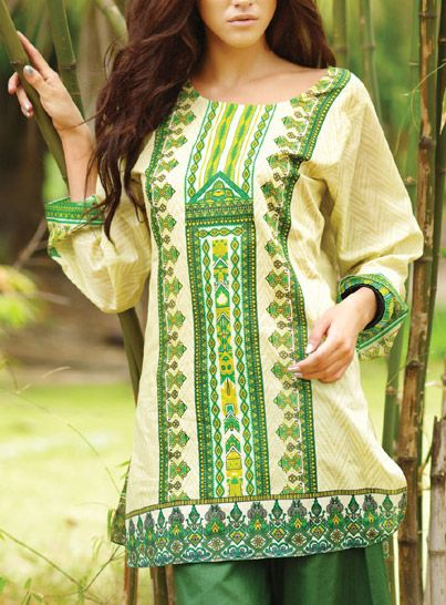 Latest Trends of Summer Lawn Kurtis Designs Collection for Women 2015-2016 (6)