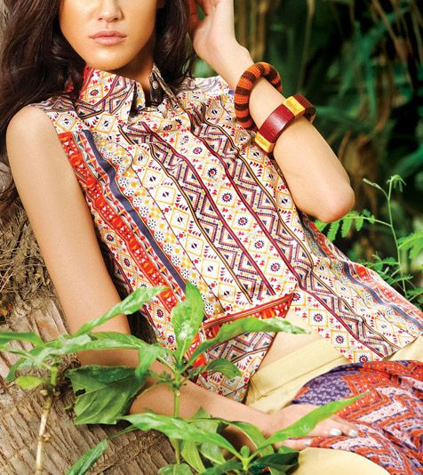 Latest Trends of Summer Lawn Kurtis Designs Collection for Women 2015-2016 (7)