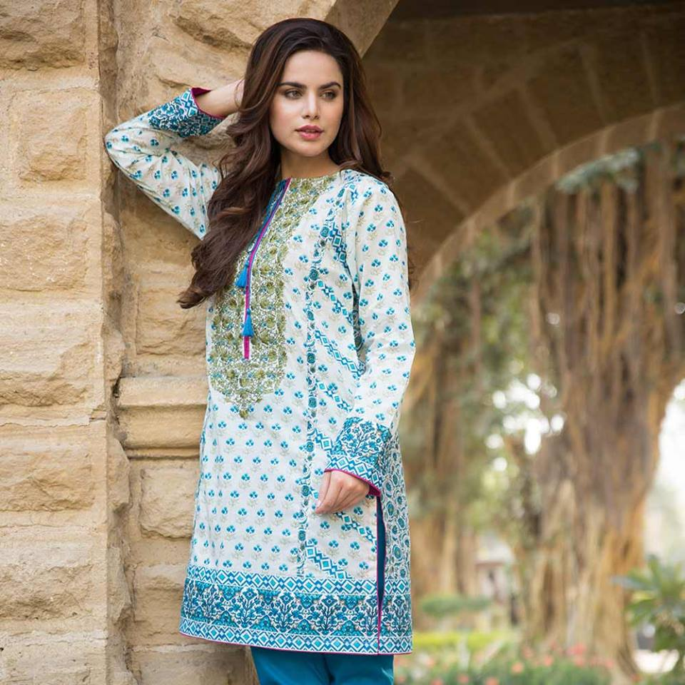 Latest Trends of Summer Lawn Kurtis Designs Collection for Women 2015-2016 (9)