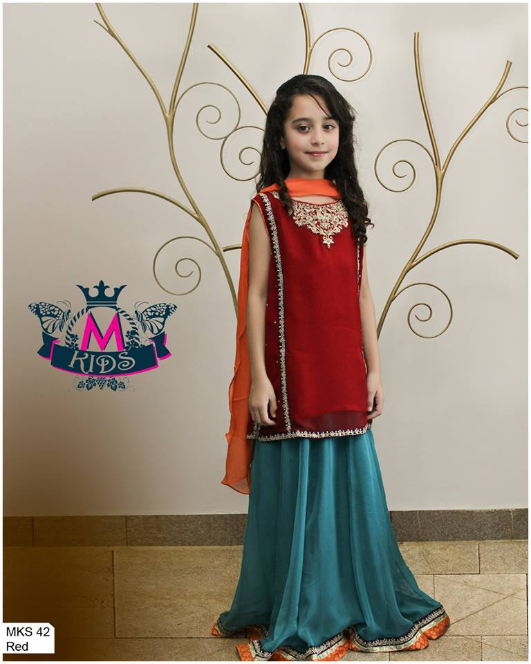 MARIA. B Latest Kids Wear Dresses New Designs Collection 2015-2016 (1)