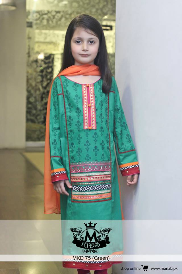 MARIA. B Latest Kids Wear Dresses New Designs Collection 2015-2016 (12)