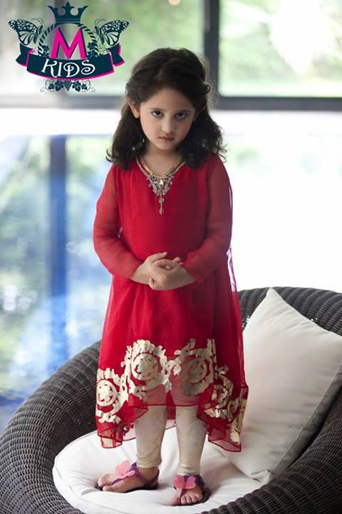 MARIA. B Latest Kids Wear Dresses New Designs Collection 2015-2016 (15)