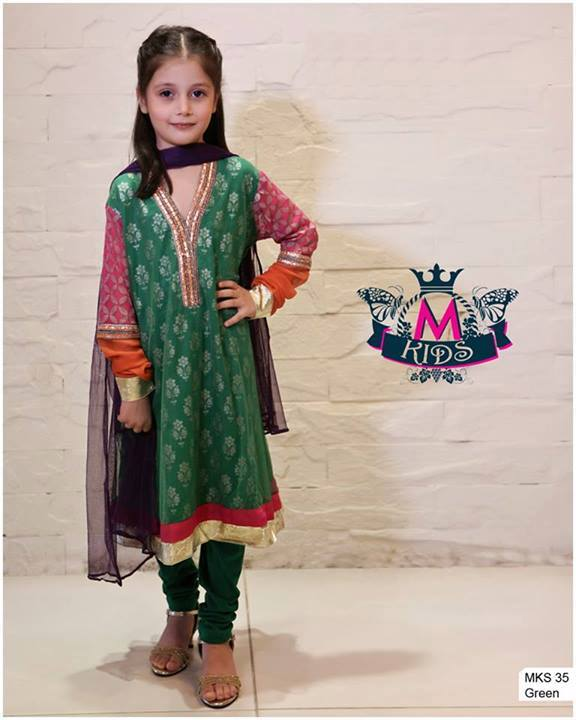 MARIA. B Latest Kids Wear Dresses New Designs Collection 2015-2016 (16)