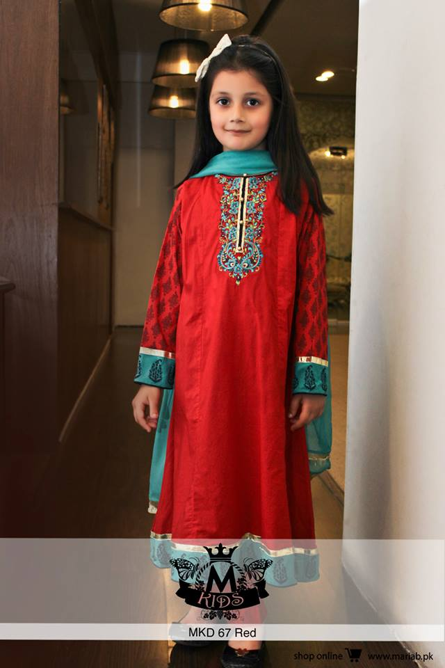 MARIA. B Latest Kids Wear Dresses New Designs Collection 2015-2016 (19)
