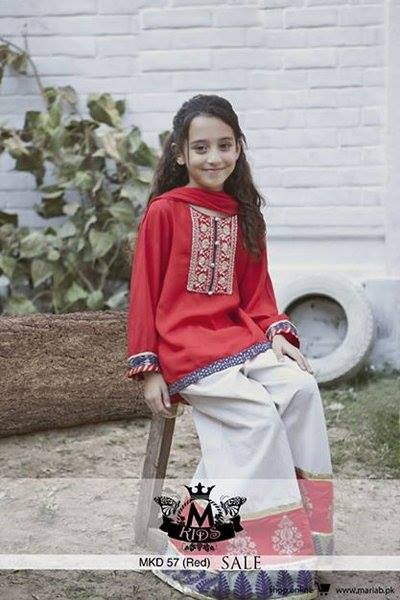 MARIA. B Latest Kids Wear Dresses New Designs Collection 2015-2016 (2)