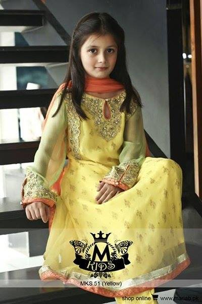 MARIA. B Latest Kids Wear Dresses New Designs Collection 2015-2016 (20)