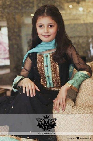MARIA. B Latest Kids Wear Dresses New Designs Collection 2015-2016 (21)