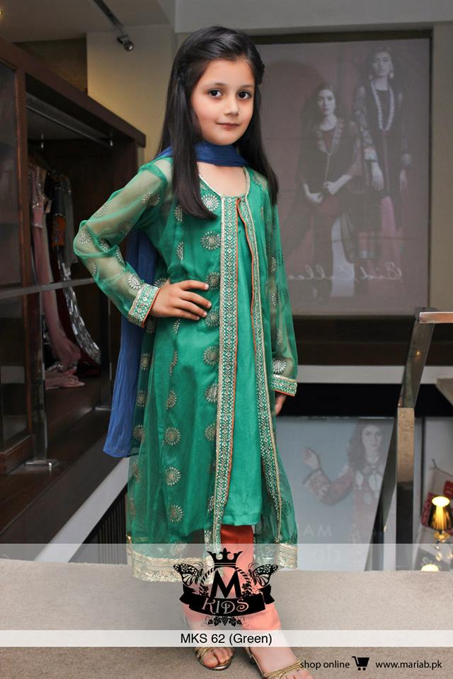 MARIA. B Latest Kids Wear Dresses New Designs Collection 2015-2016 (3)