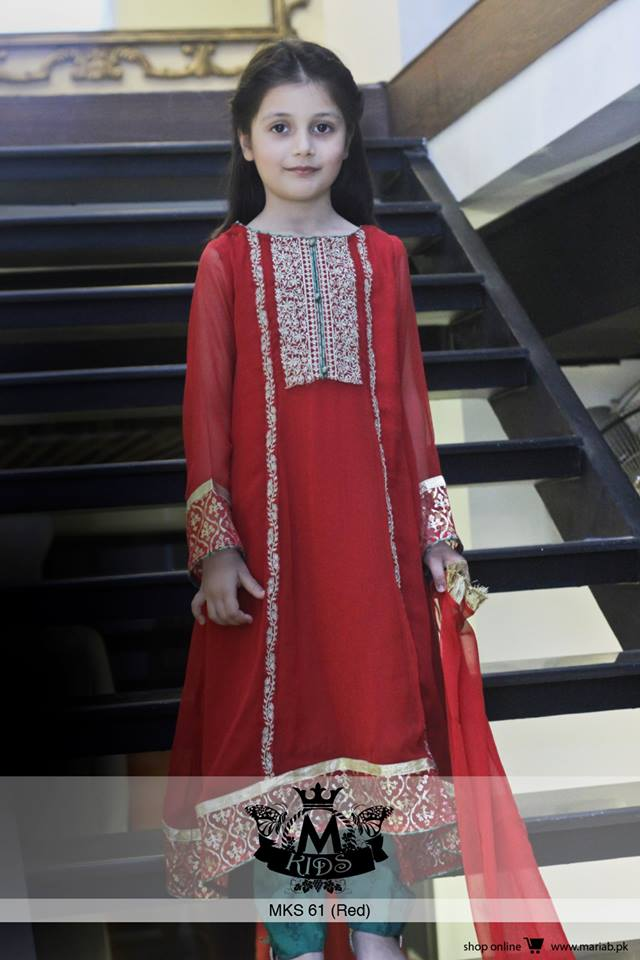 MARIA. B Latest Kids Wear Dresses New Designs Collection 2015-2016 (4)