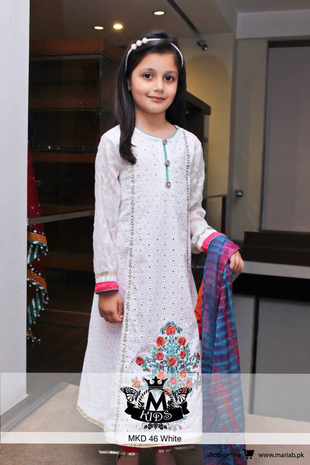MARIA. B Latest Kids Wear Dresses New Designs Collection 2015-2016 (5)