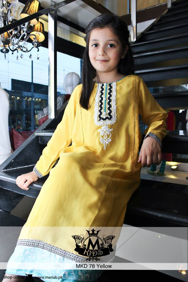 MARIA. B Latest Kids Wear Dresses New Designs Collection 2015-2016 (7)