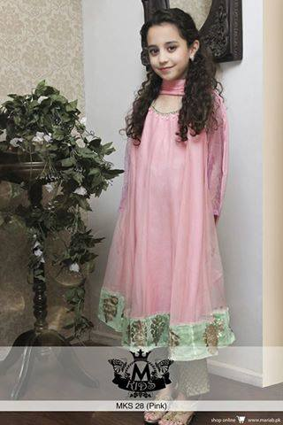 MARIA. B Latest Kids Wear Dresses New Designs Collection 2015-2016 (8)