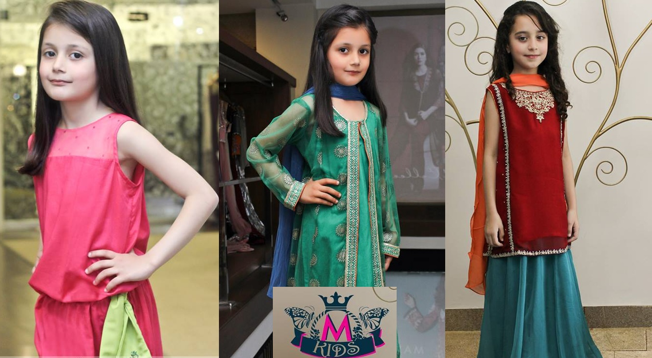 MARIA. B Latest Kids Wear Dresses New Designs Collection 2015-2016