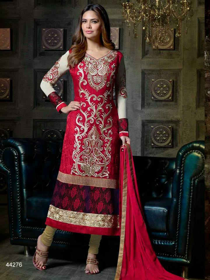 Pakistani & Indian Straight Cut Dresses Collection 2015-2016 (1)