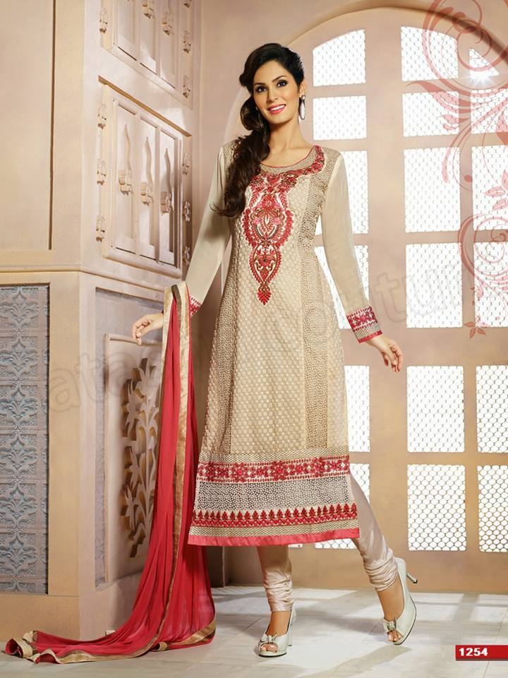 Pakistani & Indian Straight Cut Dresses Collection 2015-2016 (12)
