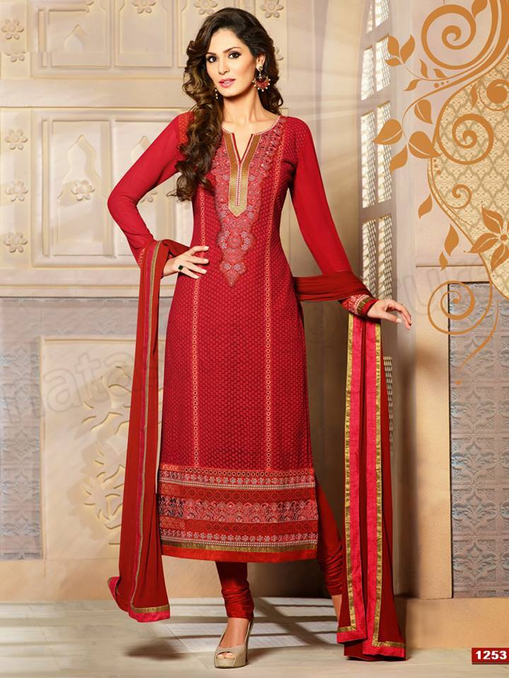 Pakistani & Indian Straight Cut Dresses Collection 2015-2016 (13)