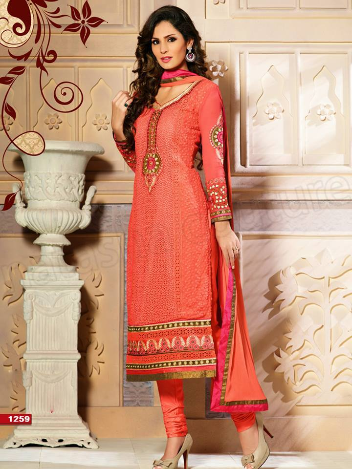 Pakistani & Indian Straight Cut Dresses Collection 2015-2016 (14)