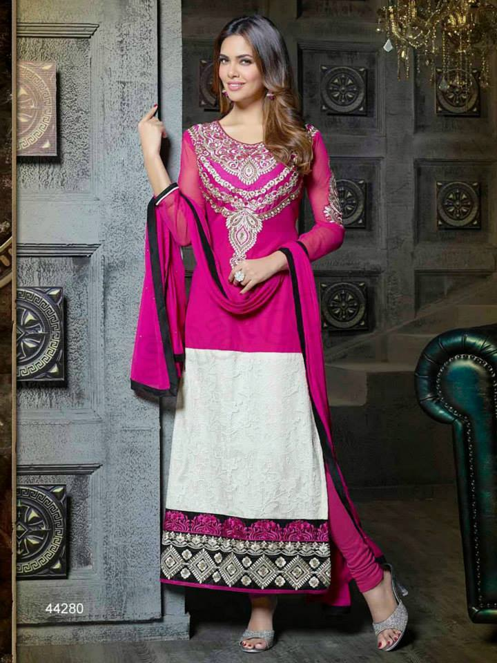 Pakistani & Indian Straight Cut Dresses Collection 2015-2016 (17)