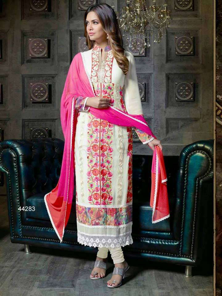 Pakistani & Indian Straight Cut Dresses Collection 2015-2016 (18)