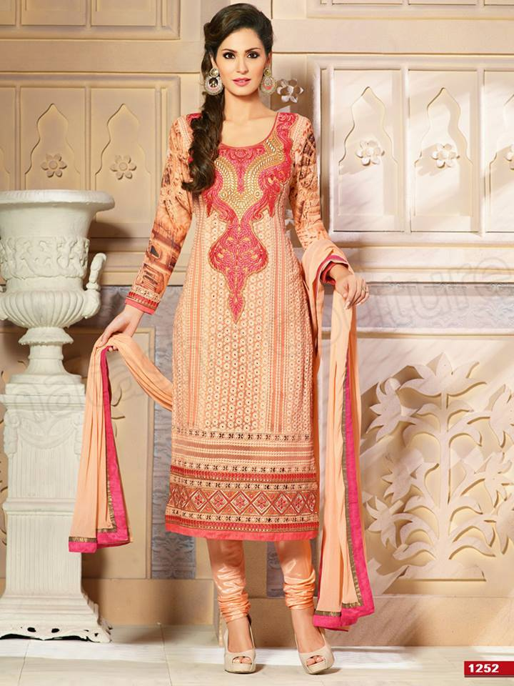 Pakistani & Indian Straight Cut Dresses Collection 2015-2016 (19)