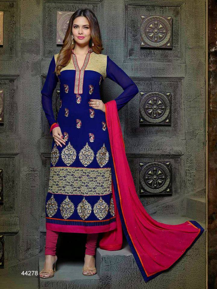 Pakistani & Indian Straight Cut Dresses Collection 2015-2016 (2)