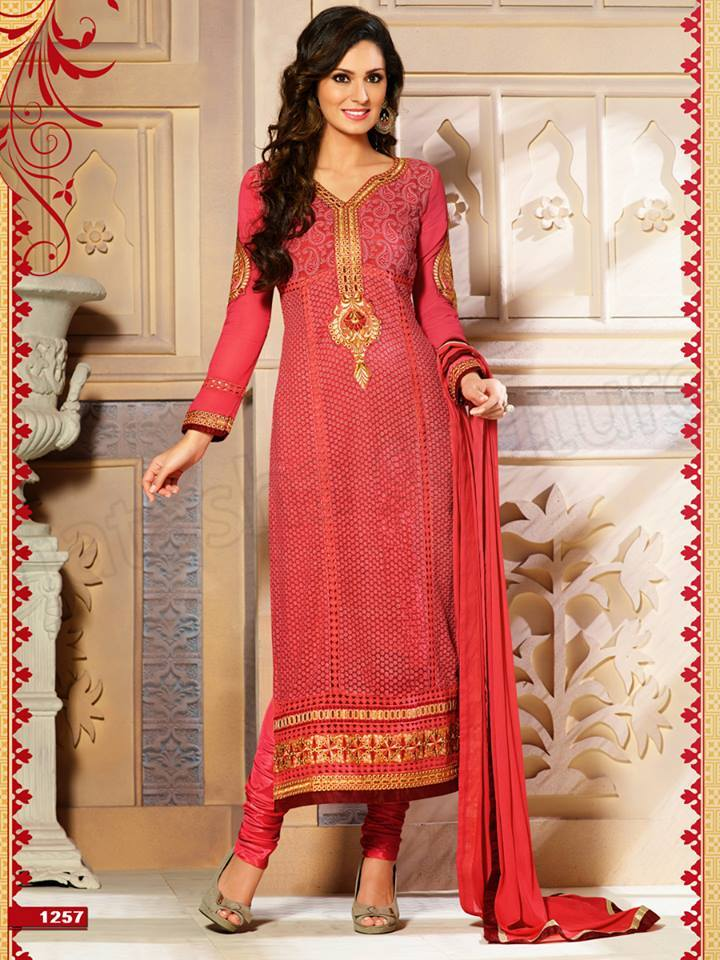 Pakistani & Indian Straight Cut Dresses Collection 2015-2016 (20)