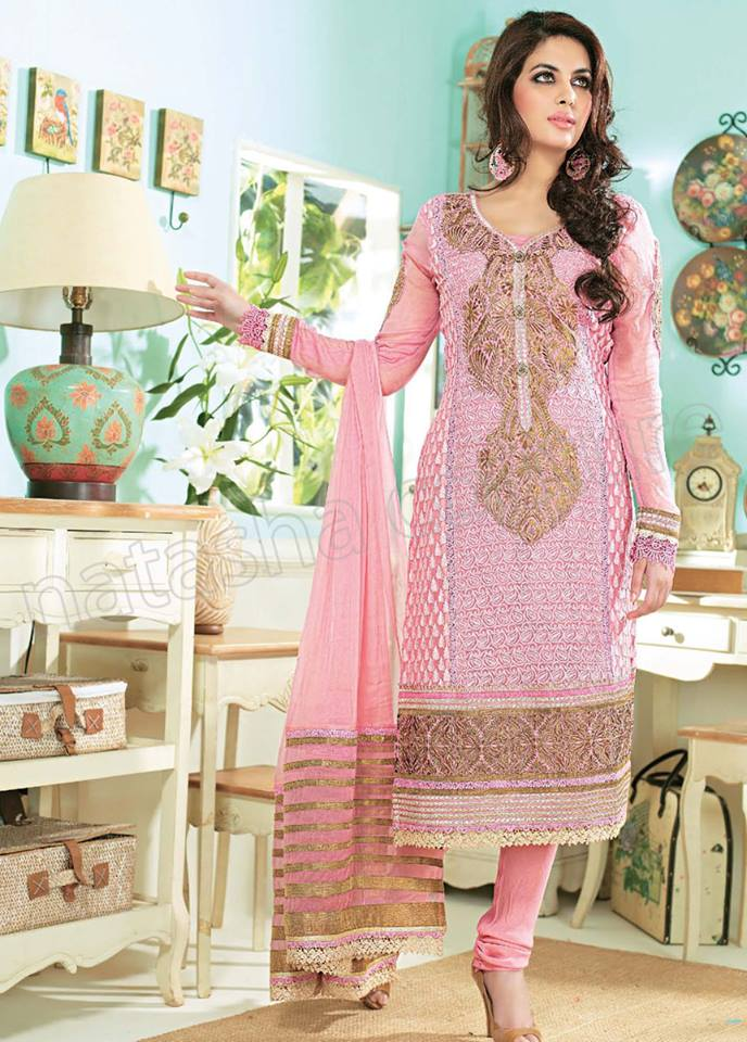 Pakistani & Indian Straight Cut Dresses Collection 2015-2016 (22)