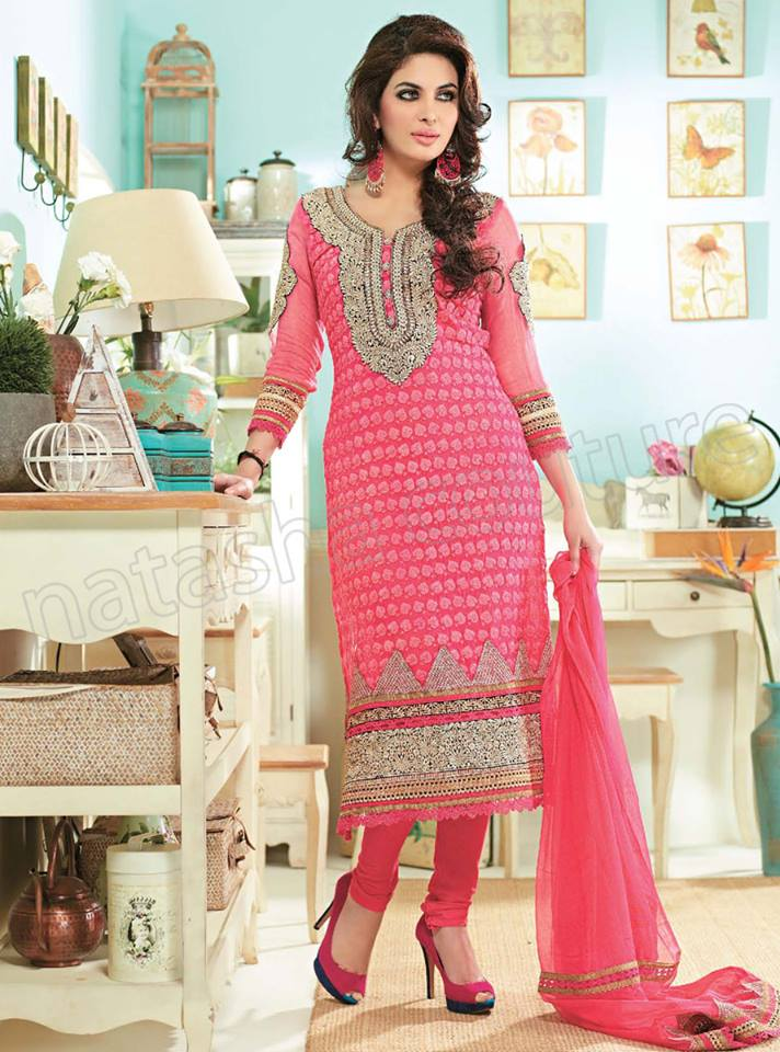 Pakistani & Indian Straight Cut Dresses Collection 2015-2016 (24)