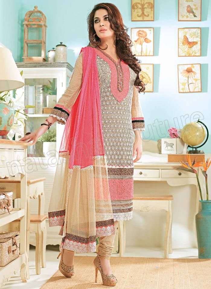 Pakistani & Indian Straight Cut Dresses Collection 2015-2016 (25)