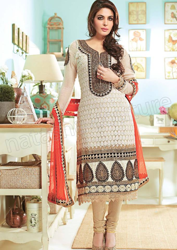 Pakistani & Indian Straight Cut Dresses Collection 2015-2016 (26)