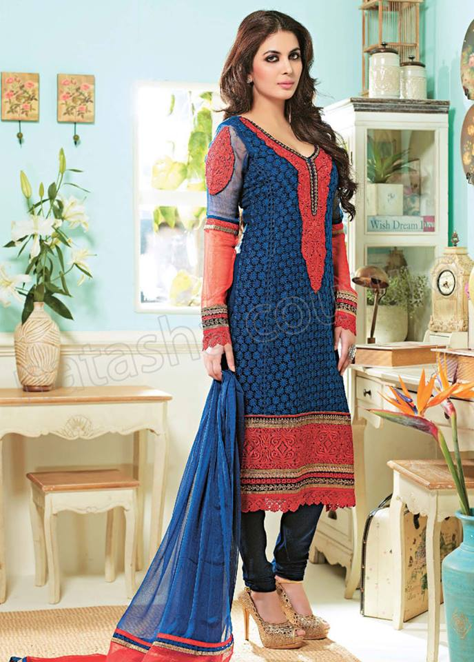 Pakistani & Indian Straight Cut Dresses Collection 2015-2016 (27)