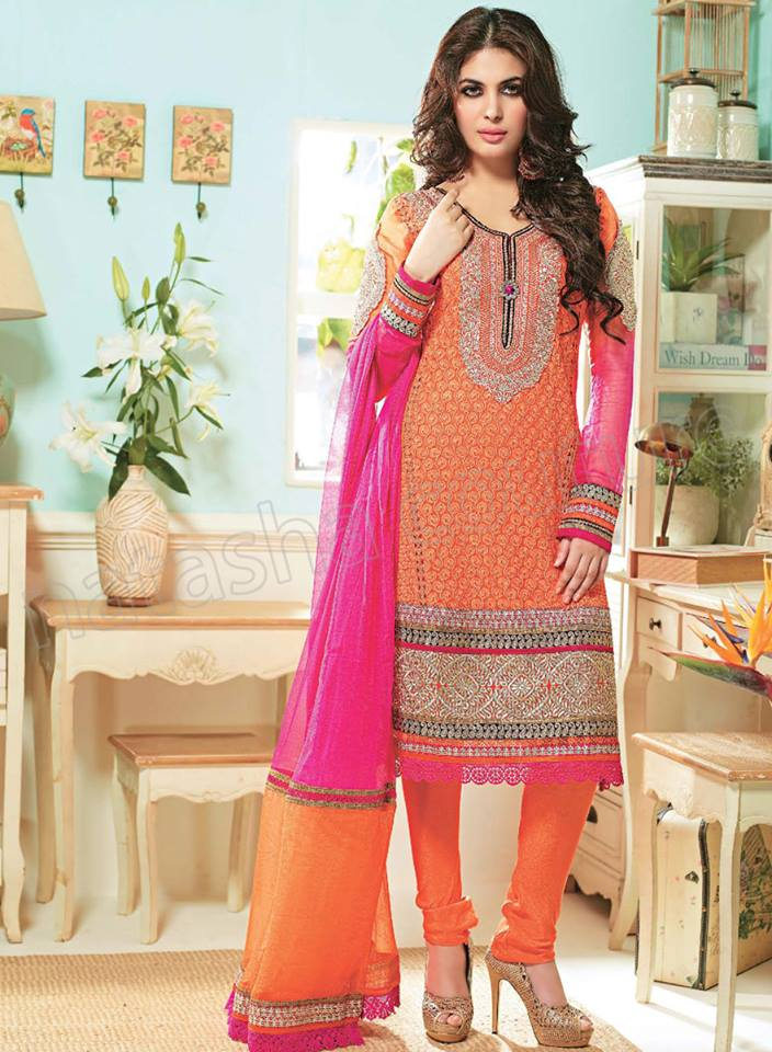 Pakistani & Indian Straight Cut Dresses Collection 2015-2016 (31)