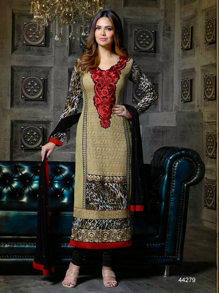 Pakistani & Indian Straight Cut Dresses Collection 2015-2016 (4)