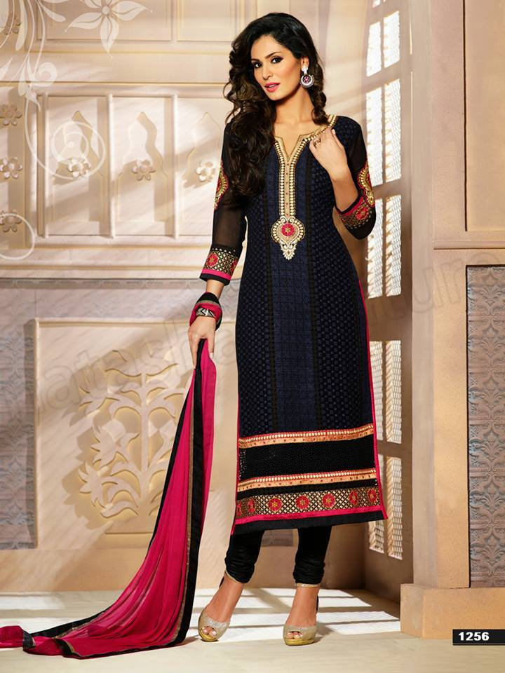 9d6a525a56 Pakistani & Indian Straight Cut Dresses Collection 2015-2016 ...