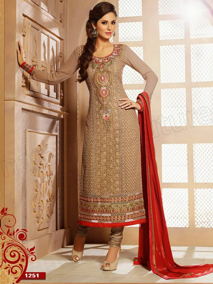Pakistani & Indian Straight Cut Dresses Collection 2015-2016 (6)