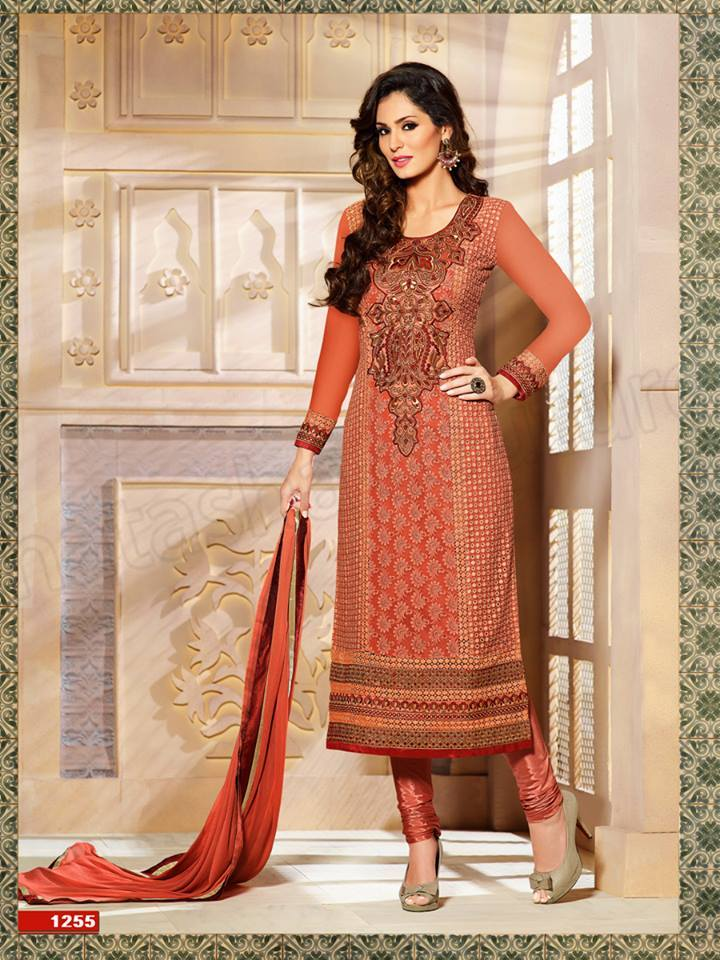Pakistani & Indian Straight Cut Dresses Collection 2015-2016 (7)
