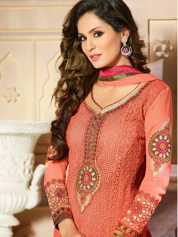 Pakistani & Indian Straight Cut Dresses Collection 2015-2016 (9)