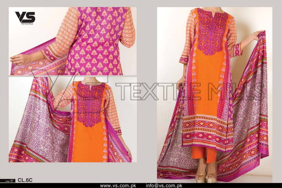 VS Textile Mills Vadiwala Lawn Embroidered Chiffon Collection 2015 (1)