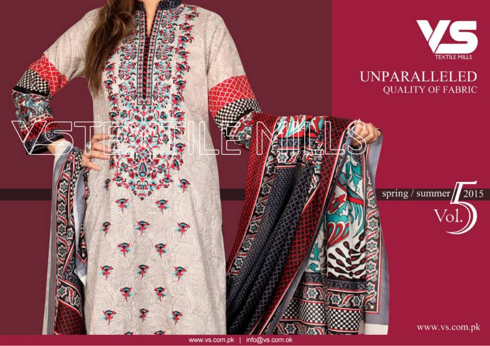 VS Textile Mills Vadiwala Lawn Embroidered Chiffon Collection 2015 (10)